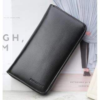 ★黒★【新品】 カードケース 長財布  大容量 収納 現金 クレジットカード(長財布)