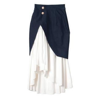 エイミーイストワール(eimy istoire)のレイヤードスカート※最終お値下げです(ひざ丈スカート)