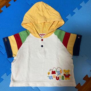 ミキハウス(mikihouse)の値下げ☆日本製ミキハウス☆レア☆マルチカラー☆プッチー☆フードTシャツ(Tシャツ)