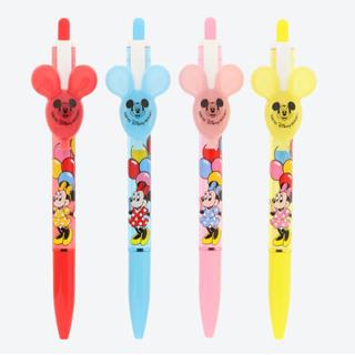 Disney - ディズニー ミニー バルーン 風船 ボールペン 4本セット 未使用