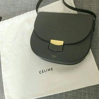 celine - 超美品 セリーヌ トロッター コンパクト グレー ショルダーバッグ