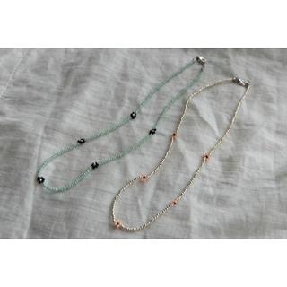 OHOTORO -  𑁍ビーズネックレス𑁍silver