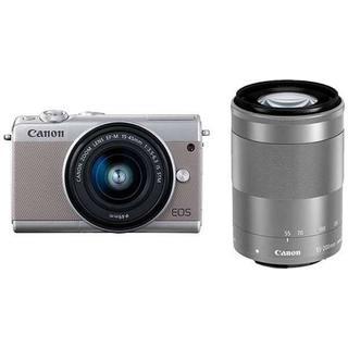 Canon - 新品Canon EOS M100 ダブルズームキット グレー ミラーレス一眼レフ