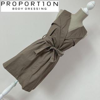 プロポーションボディドレッシング(PROPORTION BODY DRESSING)のプロポーション トレンチワンピース カーキ(ひざ丈ワンピース)