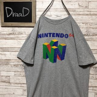 ニンテンドウ(任天堂)の【古着】希少 任天堂64 ビッグプリント オーバーサイズ Tシャツ XL(Tシャツ/カットソー(半袖/袖なし))
