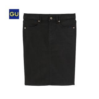 ジーユー(GU)のgu ブラック タイトスカート(ひざ丈スカート)