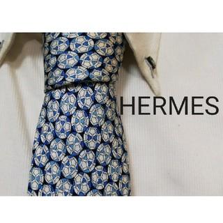 Hermes - 大人気★HERMES★エルメス★サッカーボール柄高級ネクタイ★希少