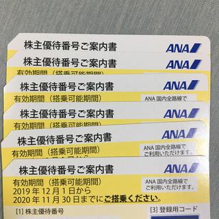 ANA(全日本空輸) - バラ売り可!! ANA株主優待券 6枚