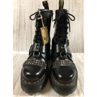 ドクターマーチン(Dr.Martens)の美品 JADON HI STUD 超厚底ダブルソール サイドジップ(ブーツ)