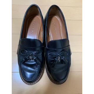 コーチ(COACH)のcoach ローファー 黒(ローファー/革靴)
