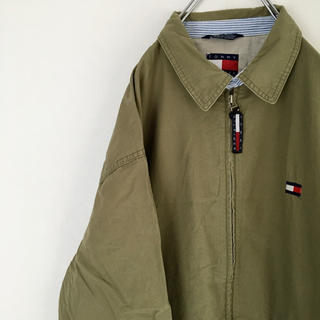 TOMMY HILFIGER - ◆美品◆ 90s トミー スイングトップ 刺繍ロゴ オーバーサイズ ゆるだぼ