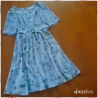 dazzlin - 《dazzlin》花柄 フラワー ウエストベルト付 ワンピース S