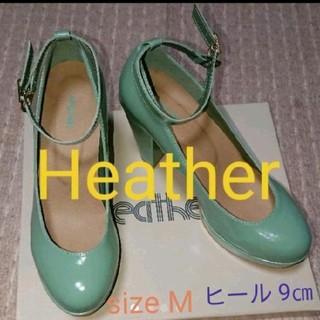 ヘザー(heather)のHeather ヘザー アンクルストラップパンプス size M(ハイヒール/パンプス)