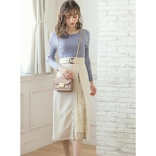 GRL - 【完売品】新作  GRL  レースドッキングスカート