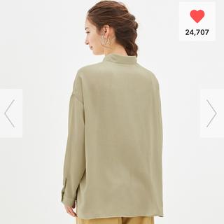 ジーユー(GU)のシアーオーバーサイズシャツ(シャツ/ブラウス(長袖/七分))