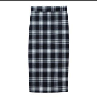 ジーユー(GU)の[GU]チェックナローミディスカート(ひざ丈スカート)