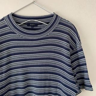 SHIPS - 古着 80s 90s SHIPS ボーダー半袖 Tシャツ ニット ネイビー