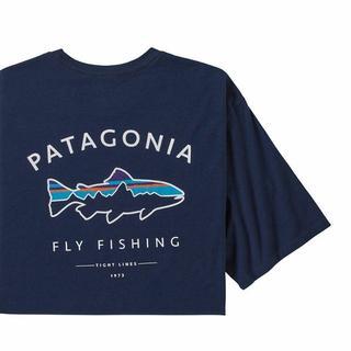 パタゴニア(patagonia)のパタゴニアTシャツ ネイビー フレームドフィッロイ アウトドア 釣り 半袖(Tシャツ(半袖/袖なし))