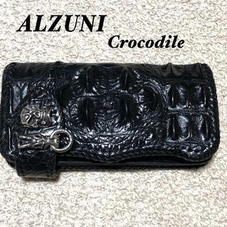 ALZUNI クロコダイル バイカーズウォレット/アルズニ シャムワニ クラウン(長財布)