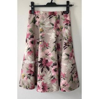 ジャスグリッティー(JUSGLITTY)の美品⭐︎ジャスグリッティー 大花プリントスカート(ひざ丈スカート)