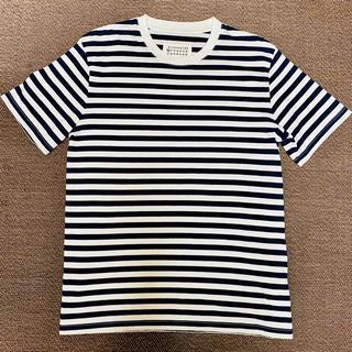 マルタンマルジェラ(Maison Martin Margiela)のマルジェラ ボーダーT ネイビー(Tシャツ/カットソー(半袖/袖なし))