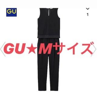 ジーユー(GU)の<<GU/ジーユー>> オールインワン サロペット ブラック 春服 夏服 M(サロペット/オーバーオール)