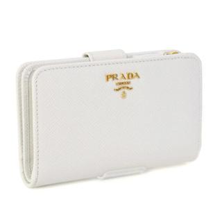 プラダ(PRADA)のボーナス特価!プラダ PRADA 二つ折り 財布 ホワイト 白 レディース(折り財布)