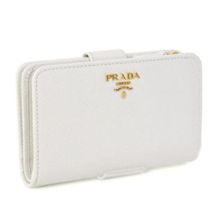 PRADA - ボーナス特価!プラダ PRADA 二つ折り 財布 ホワイト 白 レディース