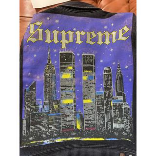 シュプリーム(Supreme)の【期間限定価格】Supreme  new york painted 希少Sサイズ(Gジャン/デニムジャケット)