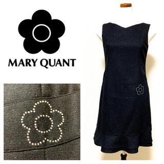 MARY QUANT - MARY QUANT スワロフスキー付きワンピース マリークワント 黒