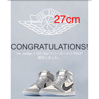 Dior - Dior x Nike Air Jordan 1 High OG 27cm