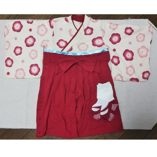 ベルメゾン(ベルメゾン)の袴ロンパース 80 ベルメゾン(和服/着物)