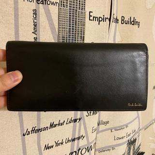 ポールスミス(Paul Smith)のポールスミス バイカラー マルチストライプ 長財布 ブラック(長財布)