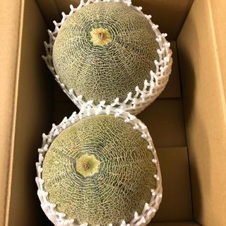 超大玉!茨城県産タカミメロン1箱2個入り⑥(フルーツ)