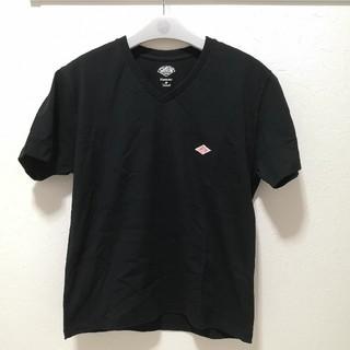 DANTON - ダントン Vネック ワンポイント半袖 Tシャツ レディース