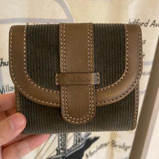 ポールスミス(Paul Smith)の新品未使用 ポールスミス 綿 折り財布 カーキ メンズ レディース(折り財布)