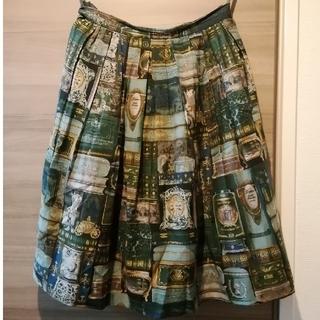 ジェーンマープル(JaneMarple)のジェーンマープル british bookshelf スカート グリーン(ひざ丈スカート)