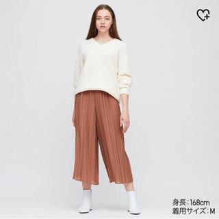 UNIQLO - ユニクロ シフォンプリーツスカートパンツ