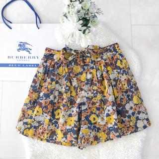 BURBERRY BLUE LABEL - ★BUBERRY BLUE LABEL レトロ花柄キュロットスカート
