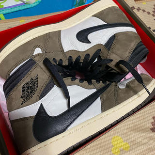 NIKE - NIKE AIR JORDAN1 × travis scott 27.0 美品
