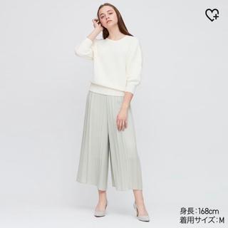 UNIQLO - ユニクロ シフォンプリーツスカートパンツ グリーン
