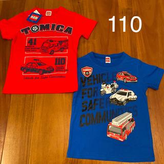 タカラトミー(Takara Tomy)の新品 トミカ 半袖シャツ Tシャツ 男の子 110 夏服 トップス 赤 青(Tシャツ/カットソー)