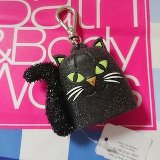 バスアンドボディーワークス(Bath & Body Works)のBath & Body Works  ブラックキャット 黒猫 ホルダー(アルコールグッズ)