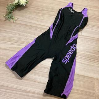 スピード(SPEEDO)のスピード SPEEDO 競泳水着 レディース カップ付 ブラック×パープル(水着)