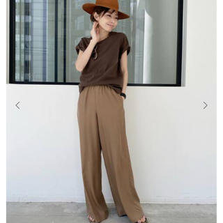 L'Appartement DEUXIEME CLASSE - L'Appartement Relax Wide pants キャメル