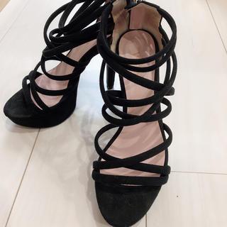 エスペランサ(ESPERANZA)の美脚✨サンダル 黒(サンダル)