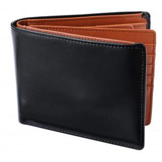 二つ折り財布 カード15枚収納 BOX型小銭入れ レザー メンズ(折り財布)