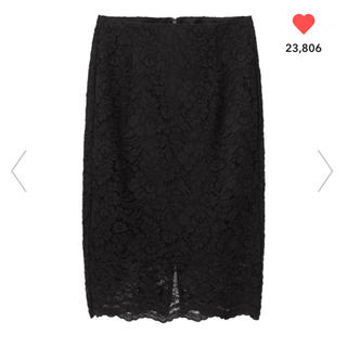 ジーユー(GU)のGU レースタイトスカート (ひざ丈スカート)