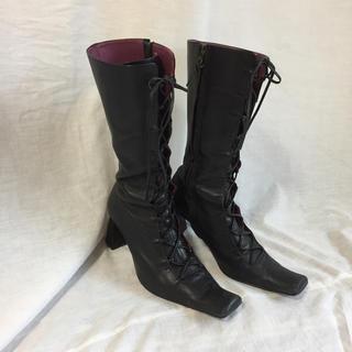 DEPT -  vintage 編み上げ ブーツ black