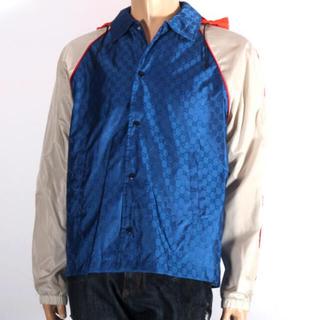 グッチ(Gucci)のGUCCI グッチ ナイロンジャケット ブルー メンズ 【新品・正規品】(ナイロンジャケット)